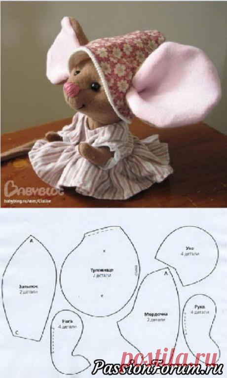 Символ 2020 года Мышь , выкройки и идеи для вдохновения - запись пользователя veda (Елена Бельская) в сообществе Мир игрушки в категории Разнообразные игрушки ручной работы