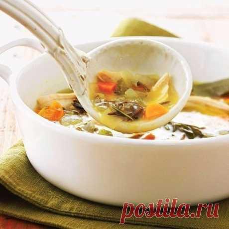 Суп с диким рисом