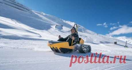 Bobsla: гибрид снегохода, саней и карта . Тут забавно !!!