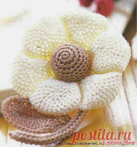Особый цветок, сотканный крючком | Вязание крючком и две иглы - Тканевые узоры