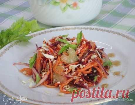 Овощной салат с пророщенной гречкой, пошаговый рецепт, фото, ингредиенты - Галина