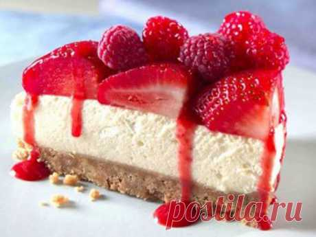Easy cheesecake with fruit for growing thin!