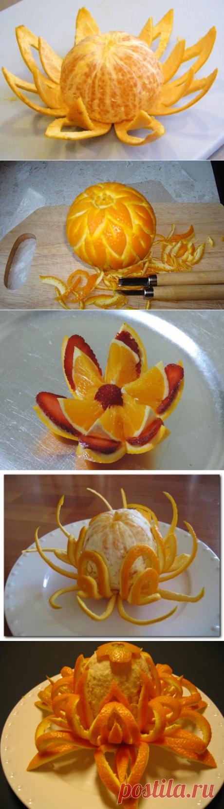 Невиданные апельсиновые цветы к праздничному столу — Рукоделие