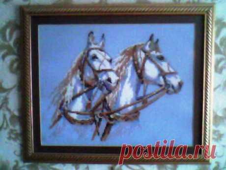 Вышивка «Кони» - Вышивка крестом