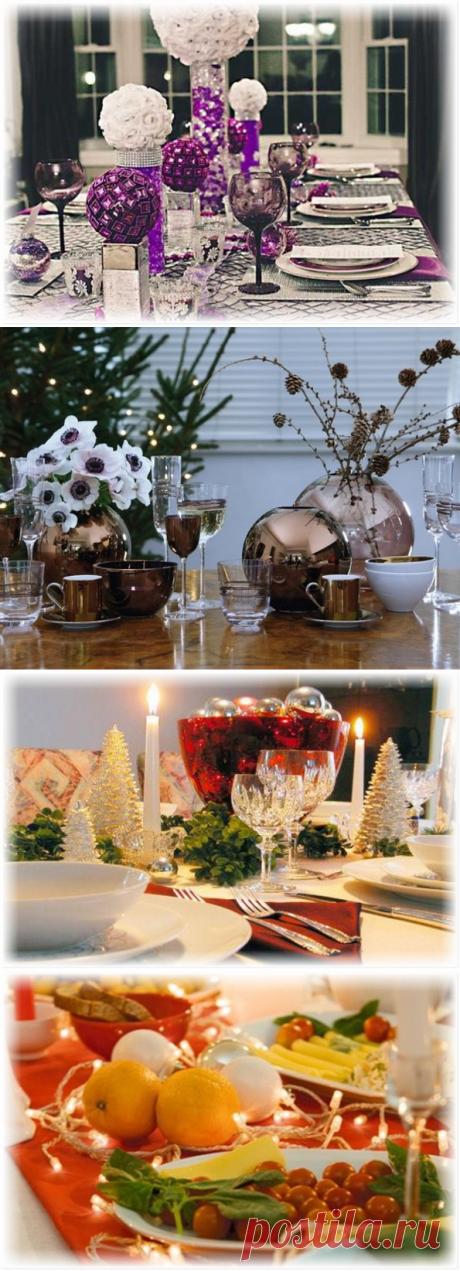 Красочный рождественский стол