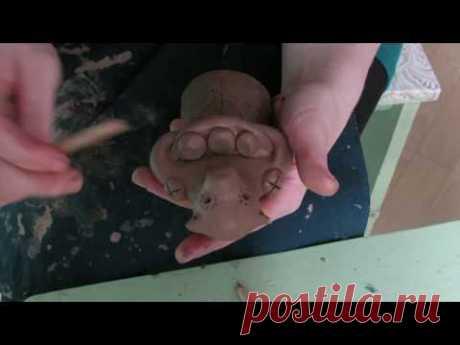 «Медвежаха». Мастер-класс по изготовлению каргопольской игрушки для детей