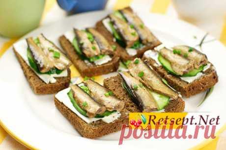 Бутерброды со шпротами фото рецепт - Retsept.net