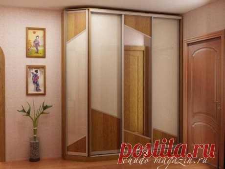 Шкаф купе фасады белое стекло и зеркало на заказ: фото, стоимость.