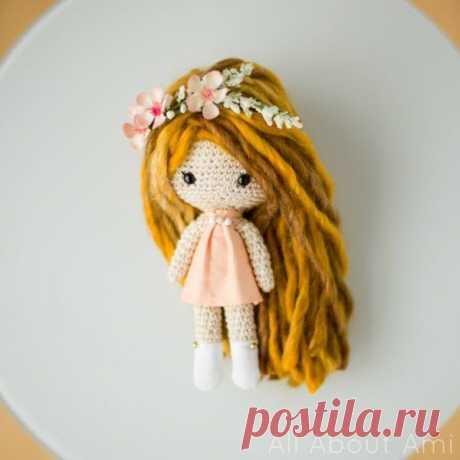 Милая маленькая кукла амигуруми свободный узор - амигуруми