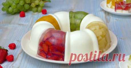 Желейный торт с фруктами: возвращает детские воспоминания