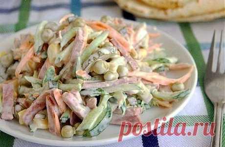 Очень простой и вкусный салатик.