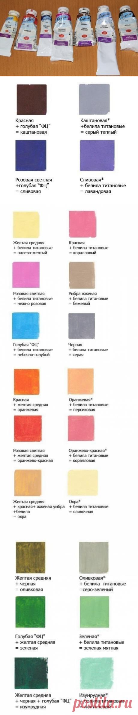 Как правильно смешать акриловые краски для получения нужного оттенка