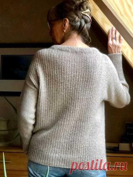 Стильная модель женского свитера оверсайз (Вязание спицами) – Журнал Вдохновение Рукодельницы