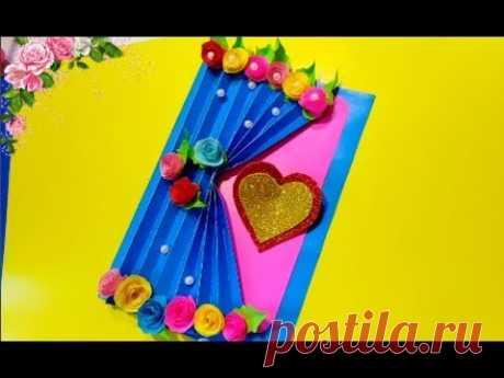 КАК СДЕЛАТЬ ПОДАРОК МАМЕ СВОИМИ РУКАМ на ДЕНЬ МАТЕРИ|| красивая 3д открытка с цветами 8 МАРТА||DIY