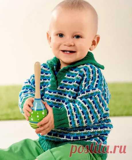Четырёхцветный пуловер для мальчика