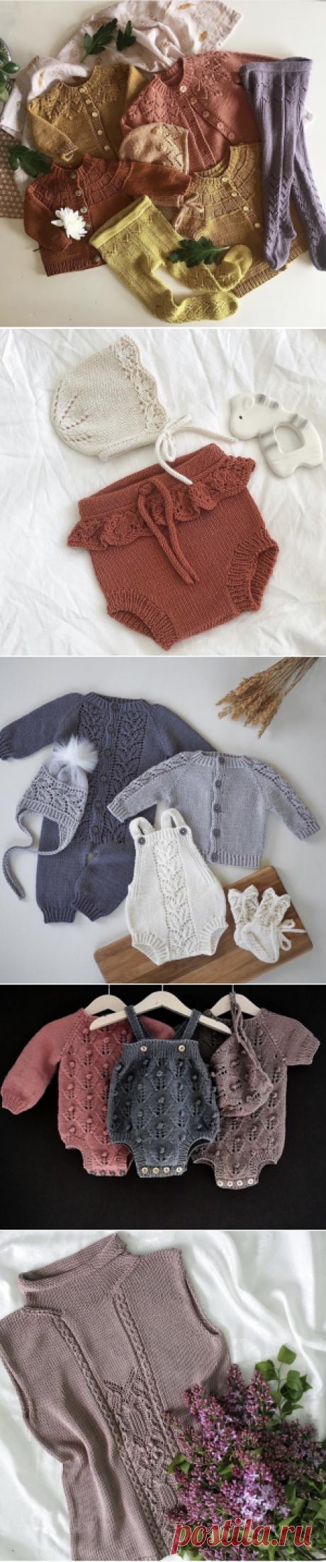 Вдохновляющая подборка вязаных моделей для малышей и мам | Журнал Ярмарки Мастеров