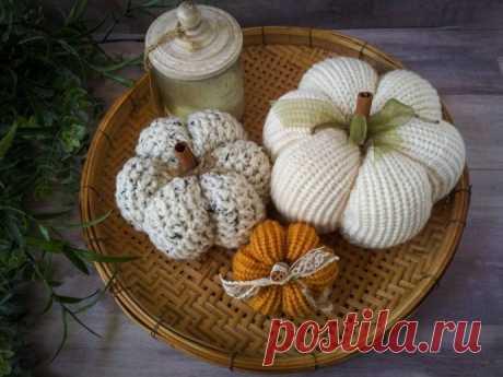 Удивительные вязаные тыквы - идеи для вязания и вдохновения