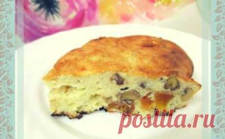 Заливной пп пирог с орехами и сухофруктами. Рецепт с фото