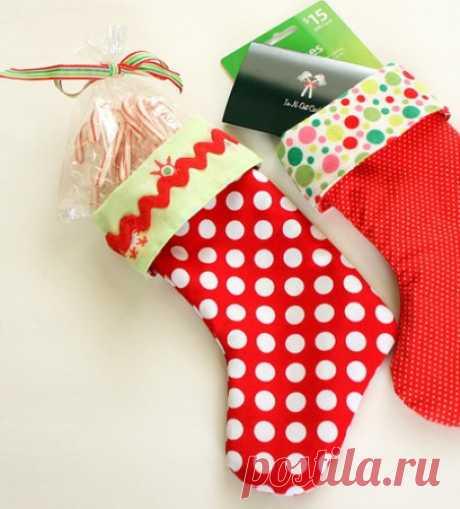 Поделки на Новый год своими руками: носок для подарков