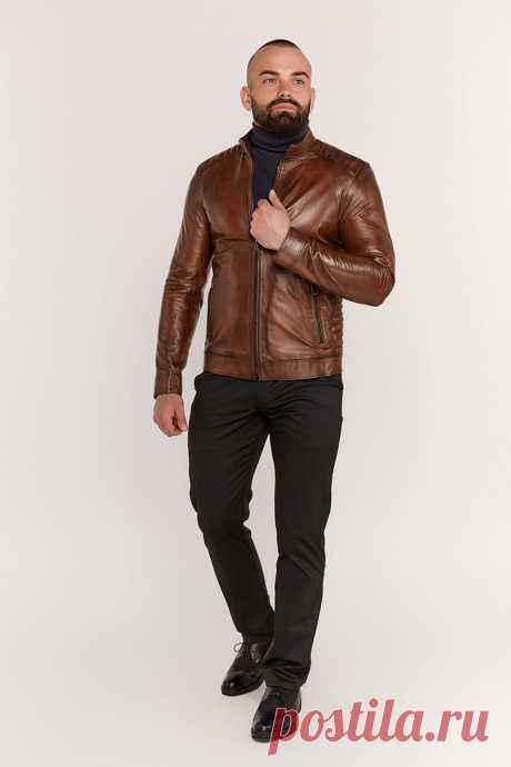 """Купить куртку мужскую из натуральной кожи коричневую, модель 1010 778681, цена 2990 в Украине   Интернет-магазин """"МДК"""" Купить куртку мужскую из натуральной кожи коричневую, модель 1010 778681, цена 2990 в Украине. Доставка, гарантия, низкие цены. Интернет-магазин """"МДК"""""""