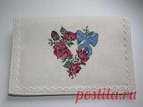 Мастер-класс : Шьем и вышиваем карман для носовых платочков