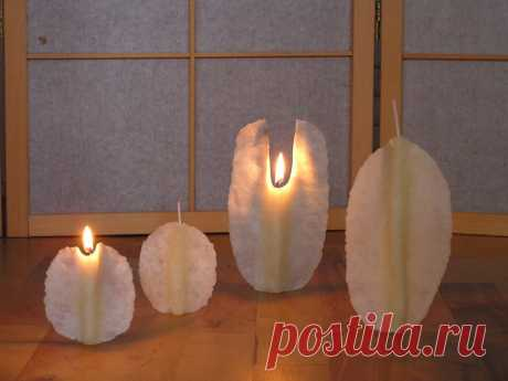 Velas - velas pequeñas de angel hechas a mano con cera de abejas - hecho a mano por Simirti en DaWanda