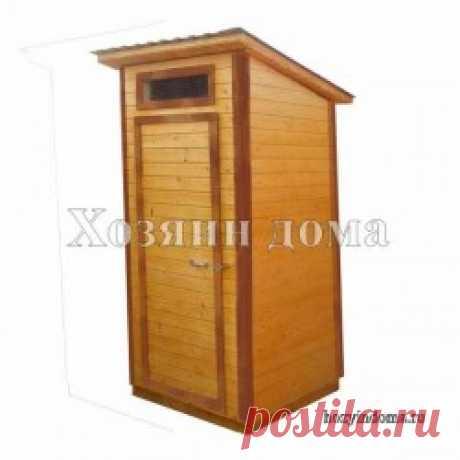 Классический деревянный туалет для дачи 1,2х1,2 метра