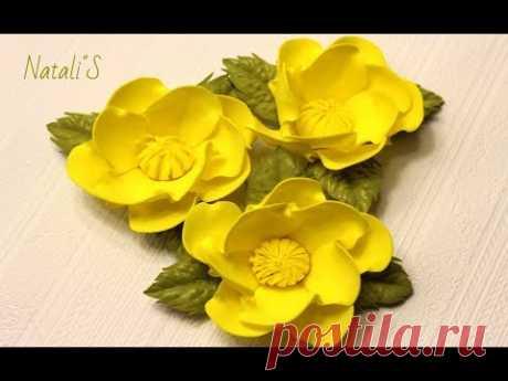 Цветы из фоамирана для осеннего венка/МК/Flowers from foamiran for autumn wreath