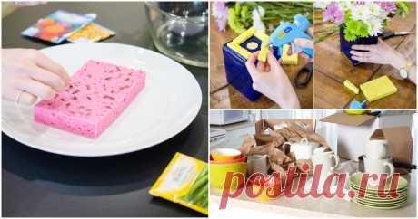 11 необычных способов применения губки для мытья посуды ...