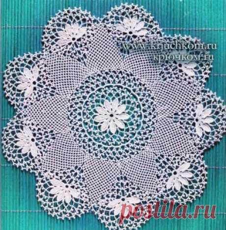 Салфетки крючком схемы - 20 фото и схем вязания