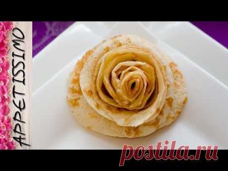 Розы из блина - 3 способа. Как красиво завернуть и подать блины / How to make pancake rose. 3 ways
