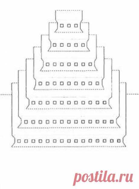 Киригами схемы архимтектуры для распечатывания - Квадратная пирамида