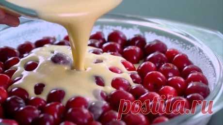 """Это самый быстрый вишневый пирог в мире. И... / Еда и напитки / """"КУШАТЬ подано...""""(2)-выпечка / Pinme.ru"""