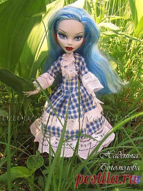 Как сшить платье с кружевом для куклы из Школы Монстров   Самошвейка - сайт для любителей шитья и рукоделия