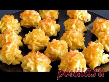 КАРТОФЕЛЬНЫЙ Праздничный гарнир из картофеля с сыром Дюшес - KHOAI TÂY phô mai bỏ LÒ Pomme Duchesse
