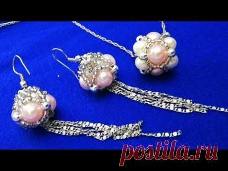 Серьги и кулон.Earrings and pendant. الاقراط والقلادة