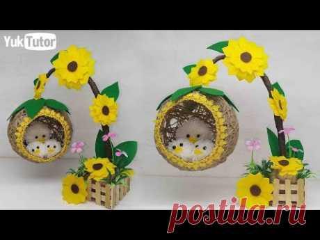 Ide Kreatif - Hiasan Meja dari Tali Rami || home decorating Ideas Handmade
