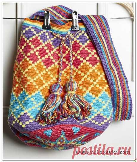 Bag jacquard pattern hook. The bag wetted a scheme Bag hook a jacquard pattern a hook. The bag wetted a scheme hook