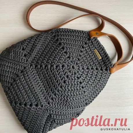Стильная сумочка (Вязание крючком) – Журнал Вдохновение Рукодельницы