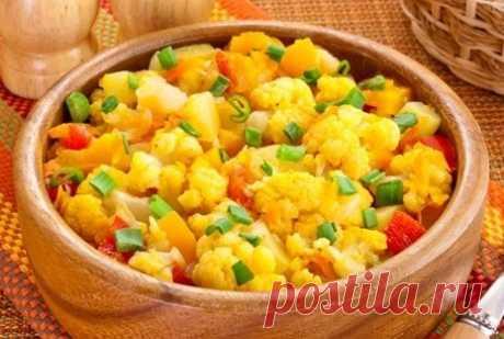 Овощное рагу с цветной капустой рецепт – основные блюда