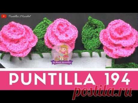 Puntilla 194 | ROSAS | Puntillas Maribel