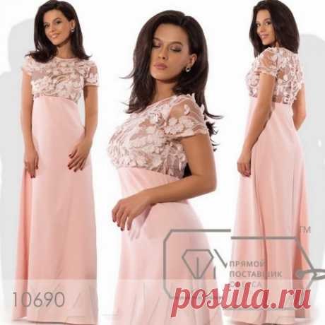 Платье с растительным 3D узором
