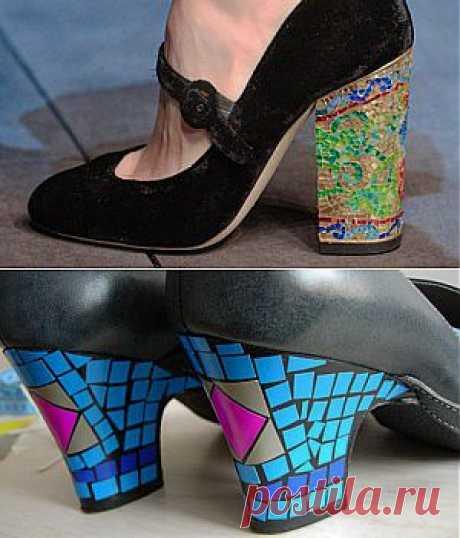 Как украсить туфли: мозаика на каблуках а-ля Dolce&Gabbana | Дела житейские: женский журнал
