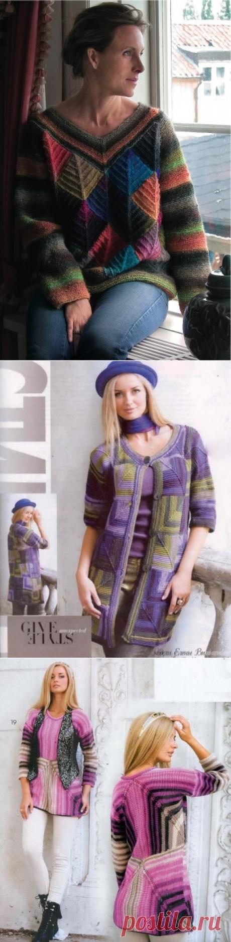 Вязание пэчворк - модное направление, подборка 25 схем и описаний, Журнал