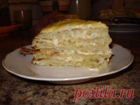 Ленивый картофельный пирог- очень вкусно!!!