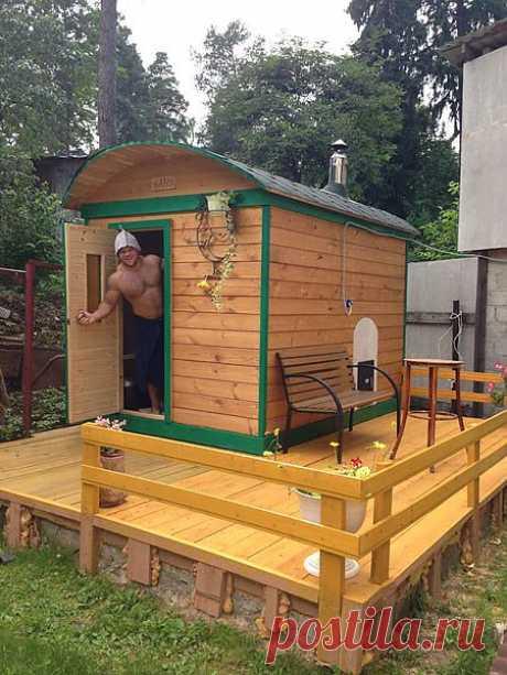 Миниатюрная, готовая баня. 8 925 5073632 Алексей.