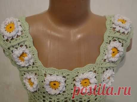 Binding of the coquette of a Border coquette dress Crochet dress