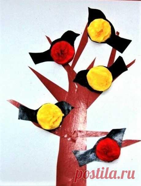 Птички. Поделки с детьми от 1,5 лет, в разной технике | Поделки, рукоделки, рецепты | Яндекс Дзен