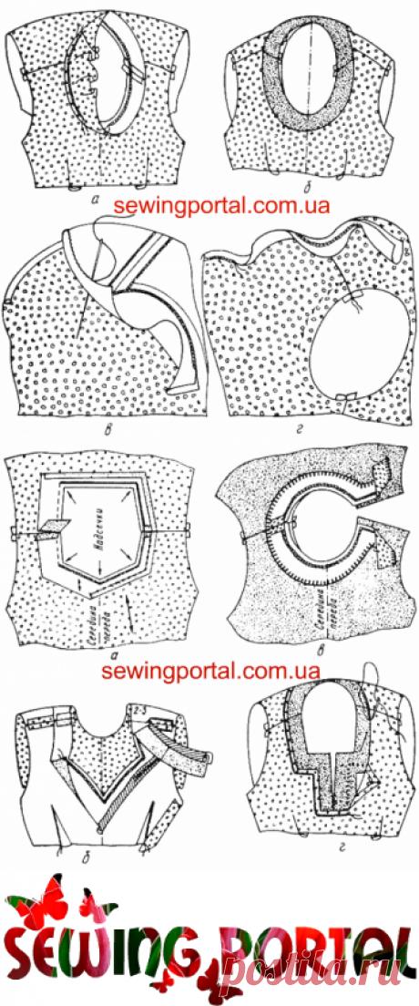 Обработка горловины подкройной обтачкой. Видео | Sewing Portal
