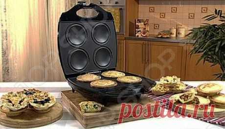 С паймейкером Smile RS 3630 вы сможете просто и быстро испечь 4 пирога всего за 12 минут! Выбирайте любую начинку на свой вкус! Готовьте даже пиццу: открытую или закрытую. И конечно же кексы!